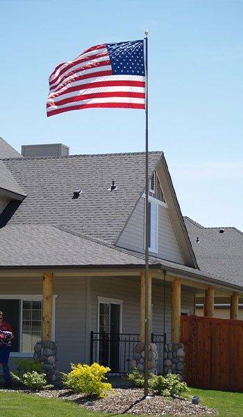 Single American Flag